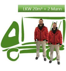 LKW 20 cbm + 2 Mann / Std.
