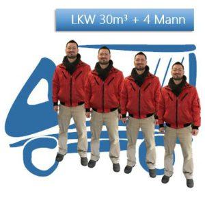 LKW 30 cbm + 4 Mann / Std.